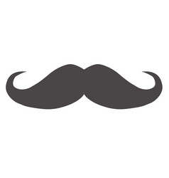 italy mustache icon on white background flat vector image