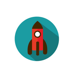 Launching rocket start up business strategy icon vector