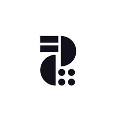 logo letter z black and white vector image