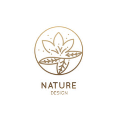 Logo round lotus vector