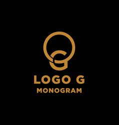 Luxury initial g logo design icon element isolated vector