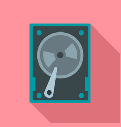 magnetic hard disk icon flat style vector image