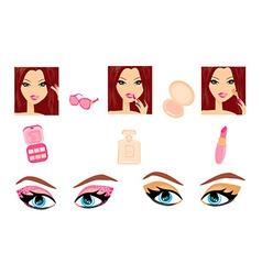 Make-up girl set vector image