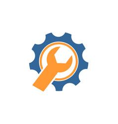 Mechanical gear logo vector