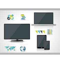 Modern infographic or webdesign concept vector