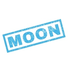 Moon Rubber Stamp vector