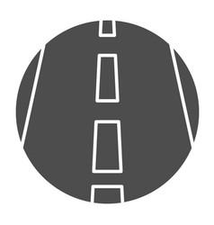 Motorway solid icon transportation symbol vector