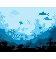 Ocean underwater world vector image