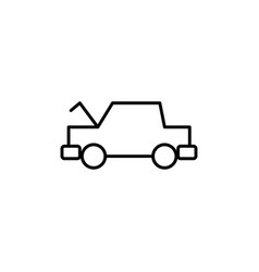 opened hood car icon vector image