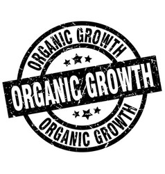 Organic growth round grunge black stamp vector