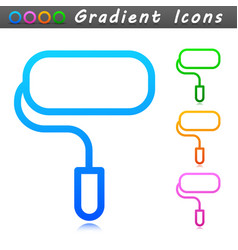 paint roller symbol icon vector image