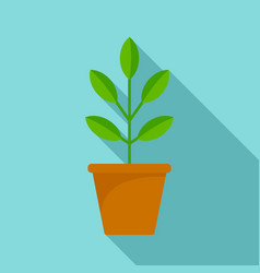 pepper plant pot icon flat style vector image