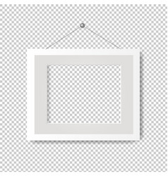 Picture frame with transparent background vector