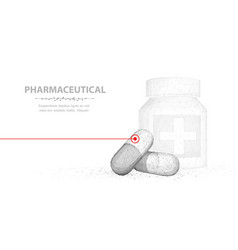 Pills abstract 3d two capsule pills vector