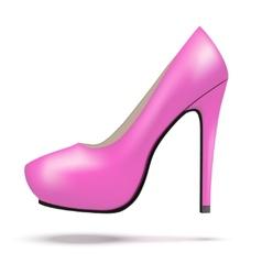 Pink bright modern high heels pump woman shoes vector image