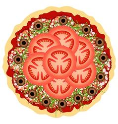 Pizza Over White vector