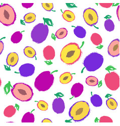 plum background painted pattern vector image