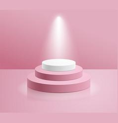 Podium with spotlight vector