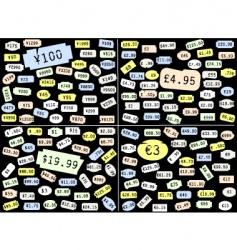 Price stickers vector
