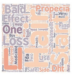 Propecia the Queen of Hair Loss Treatment text vector