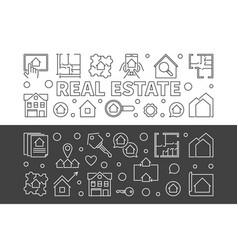 real estate set of 2 horizontal banners in vector image