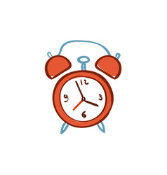 Red alarm clock isolated on white background vector
