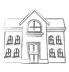 School building isolated vector