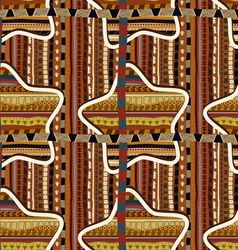 Seamless with geometric stars in the African style vector