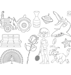 Set of cartoon images vector