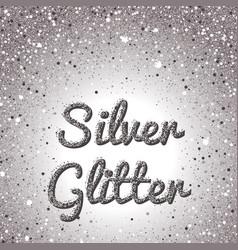 silver glitter background pink golden sparkling vector image