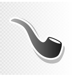 smoke pipe sign new year blackish icon on vector image