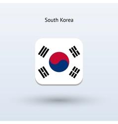 South Korea flag icon vector