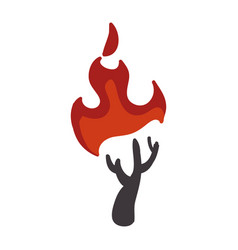 stick fire and natural warm vector image