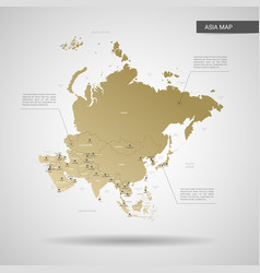 stylized asia map vector image
