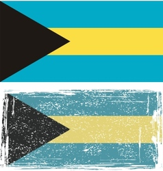The Bahamas grunge flag vector