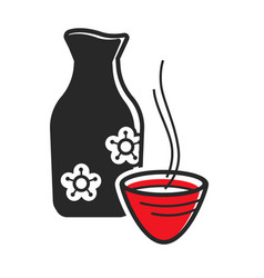 Traditional drink and bottle vector