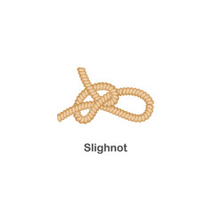 type nautical or marine node slighnot knot for vector image