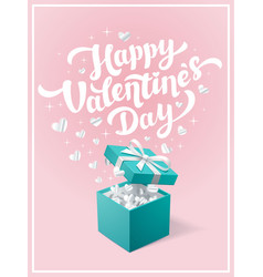 valentines day greeting card happy valentines day vector image vector image