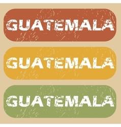 Vintage Guatemala stamp set vector image