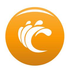 wave water composition icon orange vector image