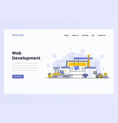 Web design flat modern concept - web development vector