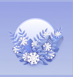 winter banner with white vector image