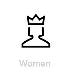 women customer icon editable line vector image