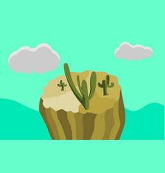 wonderland cactus desert vector image