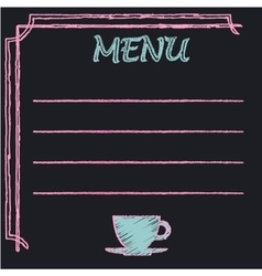 Chalkboard frame with place for menu text vector image
