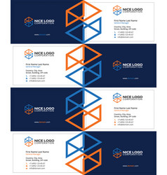 Engineering and construction business card dark vector