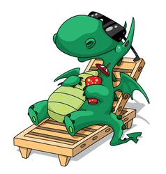 funny relaxation dragon vector image vector image