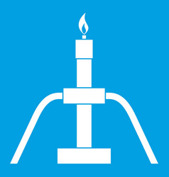 gas flaring icon white vector image