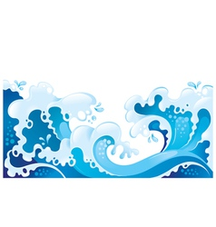 giant ocean waves background vector image vector image