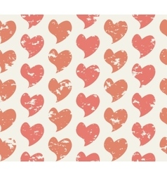 Grunge seamless pattern with handdrawing hearts vector image vector image
